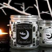 Haunted House - Ghost - Halloween Candle