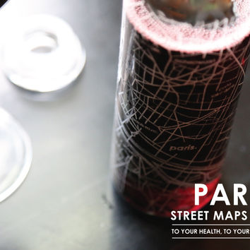 Paris Street Maps Carafe