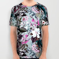 Floral and Birds XXIV All Over Print Shirt by burcukorkmazyurek