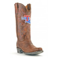 Gameday Boots Mens Leather Louisiana Tech Board Room Cowboy Boots