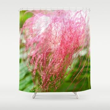 Pink Costa Rican Flower Shower Curtain by UMe Images