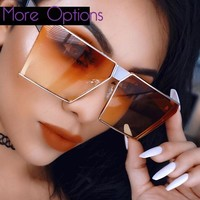 Unisex Trendy Rectangular Sunglasses ***MANY COLORS***