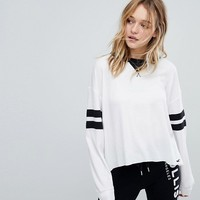 Hollister Sporty Top with Sleeve Tipping at asos.com