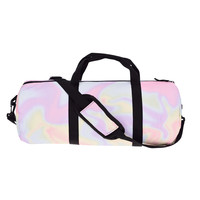 Holographic Pastel Marble Gym Duffle Bag