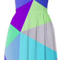 Blue Polygons created by House of Jennifer | Print All Over Me