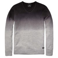 Allover Printed Brushed Wool V-Neck - Scotch & Soda