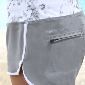 Jadelynn Brooke: Athletic Shorts {Marble Grey}