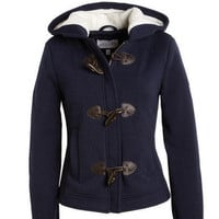 Toggle Hooded Fleece Coat