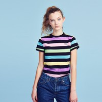 Lazy Oaf Disco Stripe T-shirt - Clothing - NEW IN - Womens