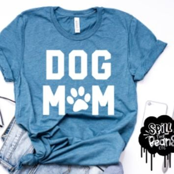 Dog Mom Adult Tee Or Tank