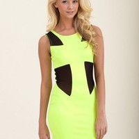 Light Up The Night Dress-Lime
