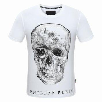 Philipp Plein Women or Men Fashion Casual Pattern Print Shirt Top Tee