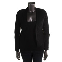 XOXO Womens Juniors Olso Stretch Long Sleeves Open-Front Blazer