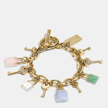 LOCK AND KEY CHARM BRACELET