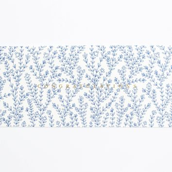 Blue Florals Congratulations Card