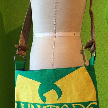 Wu-Tang Clan Crossbody Bag Upcycled T-shirt Purse