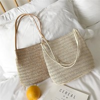 Summer Design Straw Knitting Elegant Women Single Shoulder Tote Bag