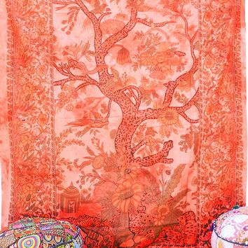 Hand printed Tree of Life Tapestries Wall Hanging or Bedsheet