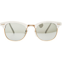 Replay Vintage Sunglasses The White Soho Sunglasses in Snow White