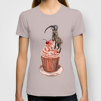 Unconquered Peak // goat cupcake T-shirt by Anna Shell