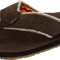 Reef Men's Leather Surf And Saddle Thong Sandal