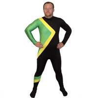 Cool Runnings Jamaican Bobsled Team Costume Jamaica Bobsleigh Body Suit 1988 Olympics Unisex Mens Lycra Spandex Morphsuit Zentai Morph New
