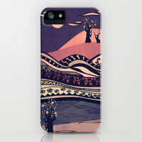 Psychedelic mountains (colour option) iPhone & iPod Case by Viviana González