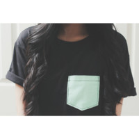 "Color block tee ""mint"""