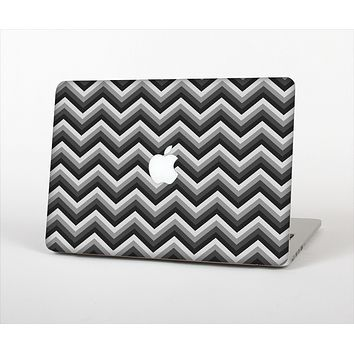 The Sharp Layered Black & Gray Chevron Pattern Skin Set for the Apple MacBook Air 13""