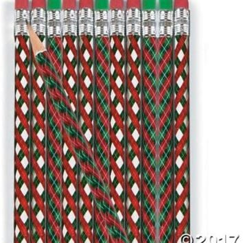 christmas argyle pattern pencils Case of 576