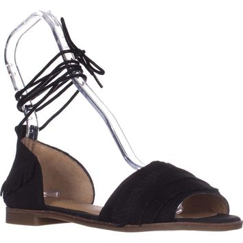 Lucky Gelso Tie Up Sandals, Black, 9 US / 39 EU