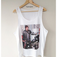Norman Reedus Daryl Dixon The Walking Dead TV Series Singlet T-Shirt Vest Unisex Man Women Free Size