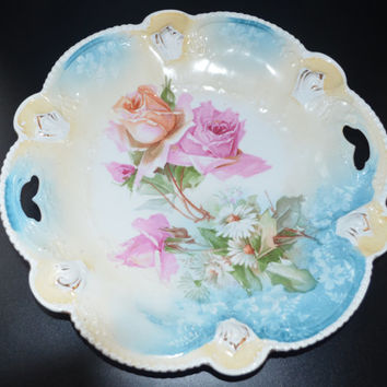 RS Prussia Cake Plate Mold 207 Roses