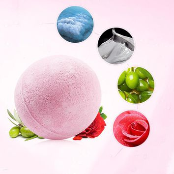 New Color Random Natural Bubble Bath Bomb Ball Essential Oil Handmade SPA Bath Fizzy Gift for Her Relaxing Bath Ball Top Quality