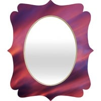 Shannon Clark Painted Sunset Quatrefoil Mirror