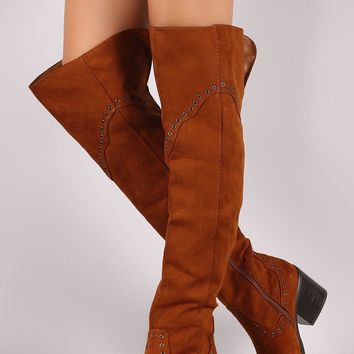 Western Over the Knee Boots