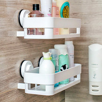 bathroom Kitchen Storage Holder Wall mount shelf Bathroom Shelf for Kitchen Shelves Bathroom Wall Shelf Shelving with suckers