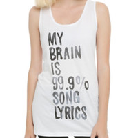 Brain Is Song Lyrics Girls Tank Top