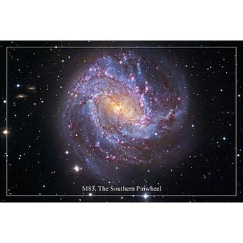 M83 THE SOUTHERN PINWHEEL Hubble Space Image Poster 24X36 SPIRAL GALAXY