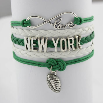 Infinity Love Football Bracelet - New York Football