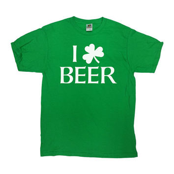 St. Patrick's Shirt Funny Beer Shirt I Love Beer St Pattys Day Shirt Beer Lover Gift Drinking Shirt Beer Drinker Mens Ladies Tee - SA564