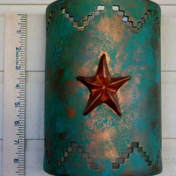 "Texas Star Indoor Ceramic Wall Sconce 8""X 6"""