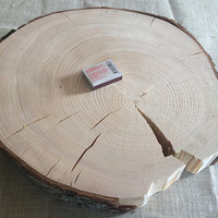 37cm / 14 inch Extra large Rustic Cake Stand, Wedding Cake Stand, Cupcake Stand, Wedding Centrepiece, Wood Slice, Wood Slab.