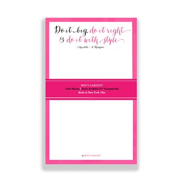 Do It Big, Do It Right Scribble Notepad Set Of 3