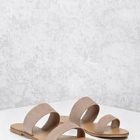 Faux Suede Strapped Sandals