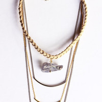 Geo 3 strands Necklace