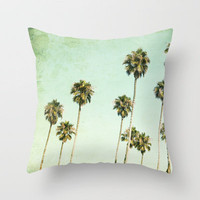 Palm Trees (California Dreaming III) Throw Pillow by Mareike Böhmer | Society6