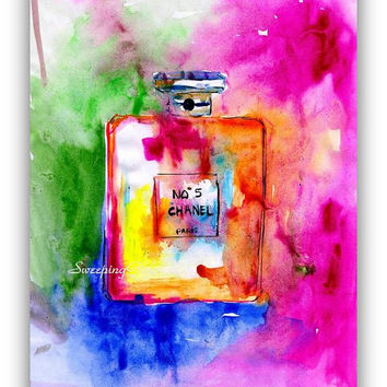 Coco Chanel,Rainbow colors, No 5, number 5, perfume, bottle, Printable, Wall Art, decor, inspiration, decal, decals, print gifts, fashion