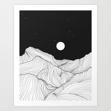 Lines in the mountains II Art Print by Viviana Gonzalez