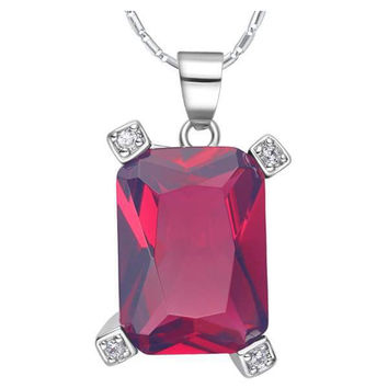 925 Crystal Gemstone Silver Accessories Necklace = 5839803969